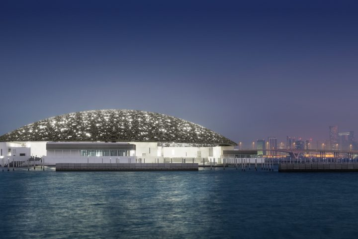 The Louvre Abu Dhabi was designed by Pritzker Prize-winning French architect Jean Nouvel in the shape of a museum city (Arab medina) under a vast silvery dome