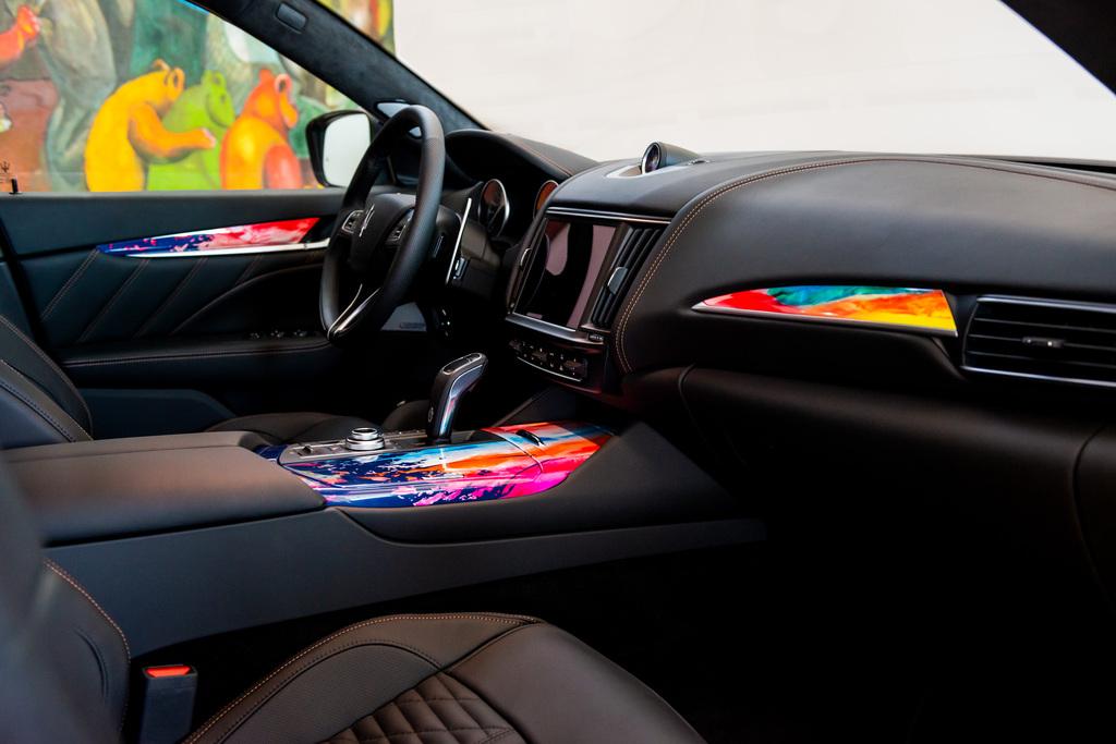 Interior view of the vehicle: Maserati meets Massimo Bottura _ Levante Trofeo Fuoriserie