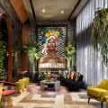 he colorful Audacity portrait takes center stage in the Maraca Restaurant in Santo Domingo. It represents the pride of the Dominican woman created with mosaics of the Sicis Shades collection