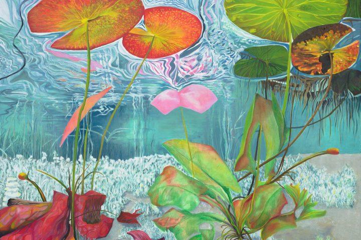 Karin Mathebula, Underwater Composite, 2021. Oil on canvas. 122 x 152 cm. Courtesy of Absa Gallery