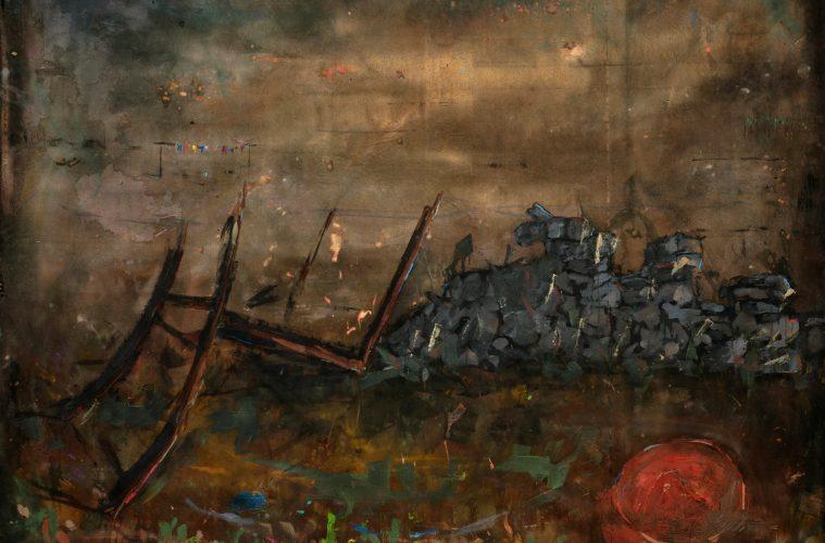 Asanda Kupa, Abantu Ngabomhlaba Abanamhlaba, 2021. Acrylic on canvas. 135 x 175 cm. Courtesy of Absa Gallery